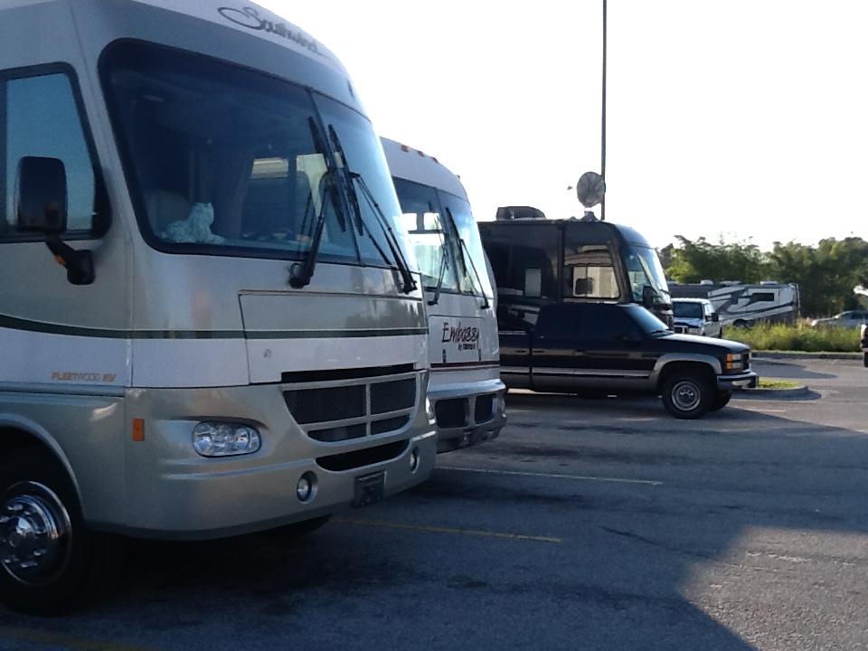 Автобусы здесь самые разные